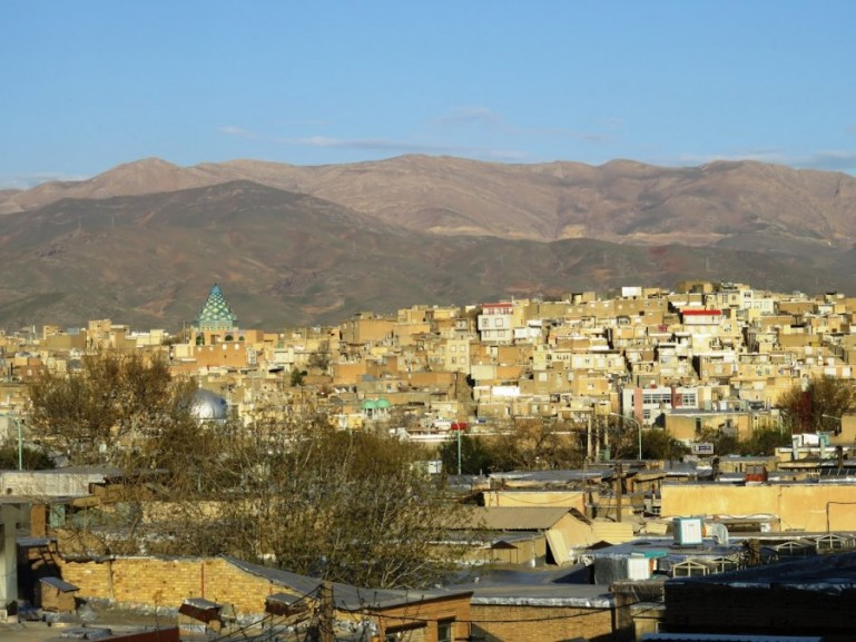 The road to Palangan in Kurdistan Iran