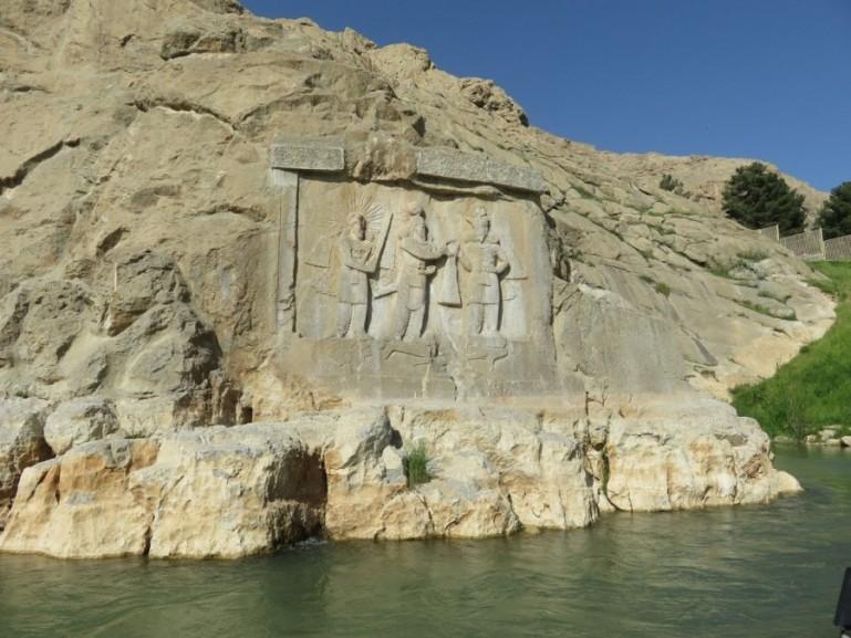 relief at Taqt e Bostan near Kermanshah Iran