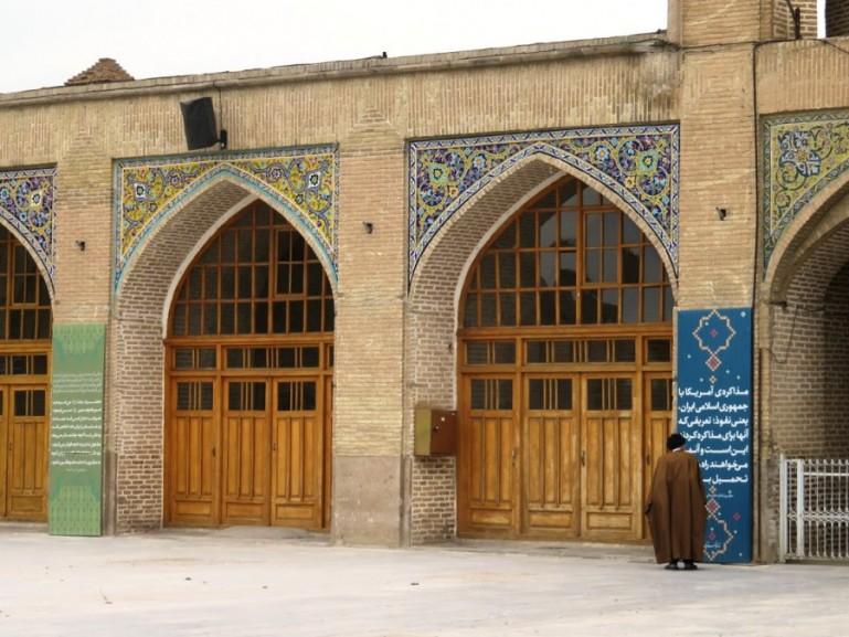 Qajar era decorations at the bazaar in Qazvin Iran