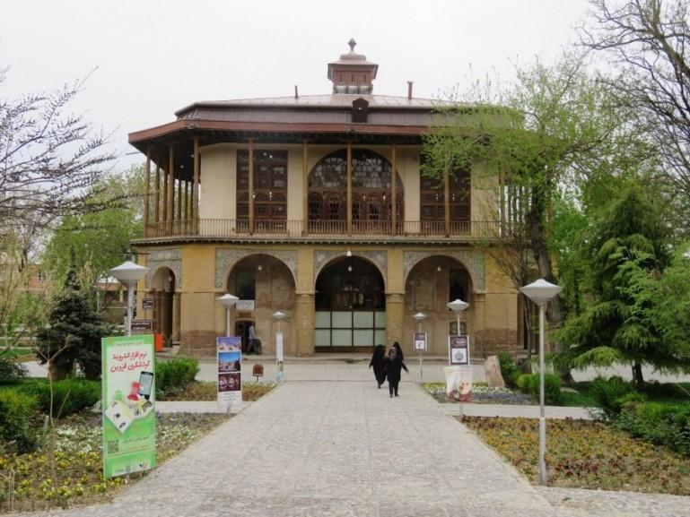 Chehel Sotun palace in Qazvin