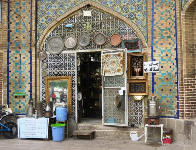 Qajar decorations in Qazvin