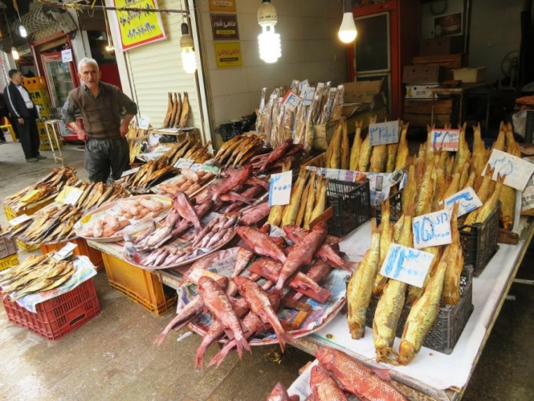 Caspian fish at the bazaar in Rasht
