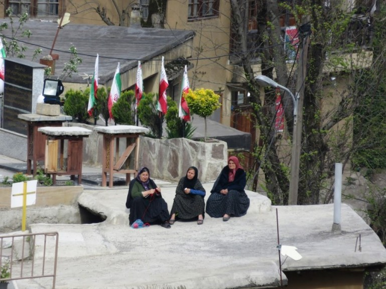 women in the center of Masuleh Iran