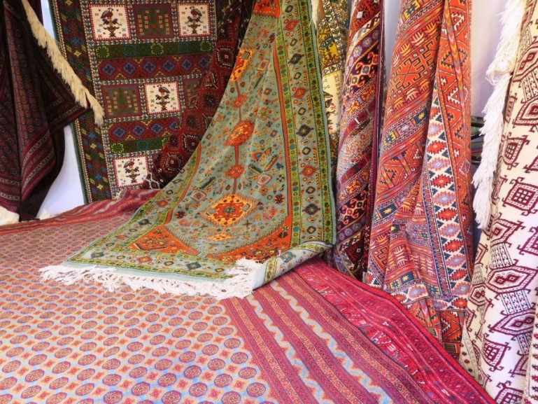 Carpets at the Tehran grand bazaar
