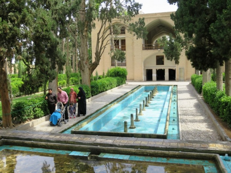Courtyard of Fin garden in Kashan