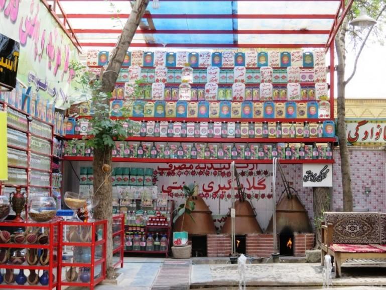 Rose water factory in Kashan Iran