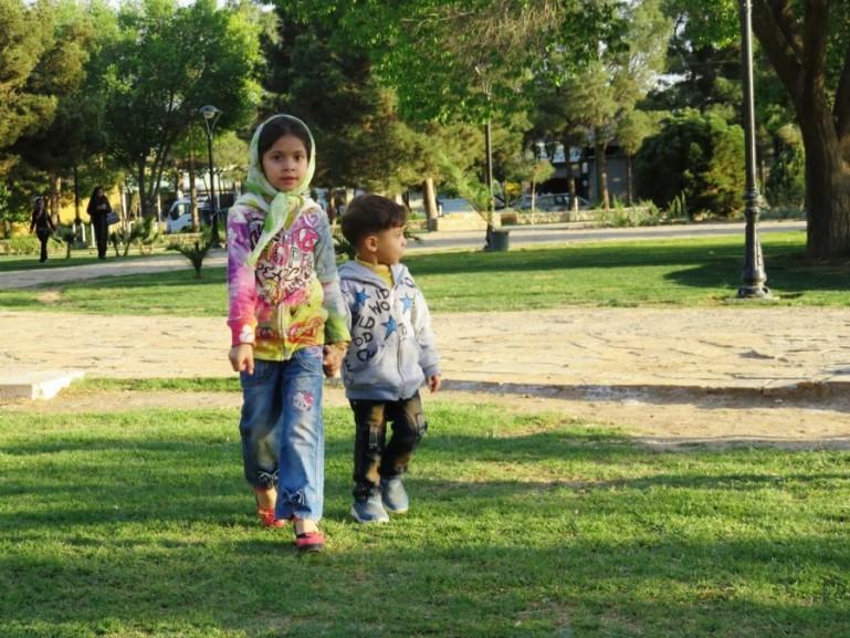 City park in Kashan Iran