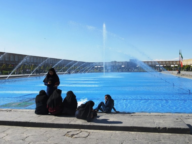 Iranian girls in Esfahan in Iran