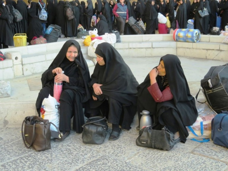 women wearing the chador in Iran. As a woman travelling to Iran you do not need to wear a chador