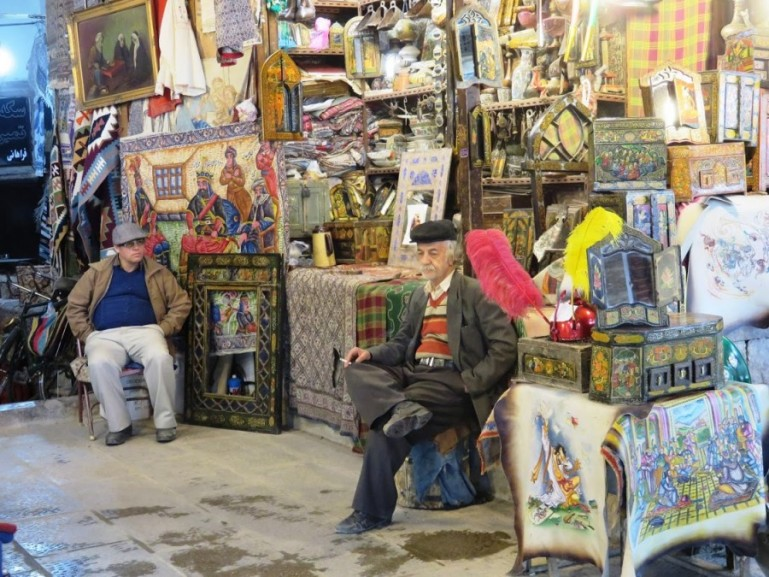 Bazaar bozorg in Isfahan Iran is the best place to buy your souvenirs
