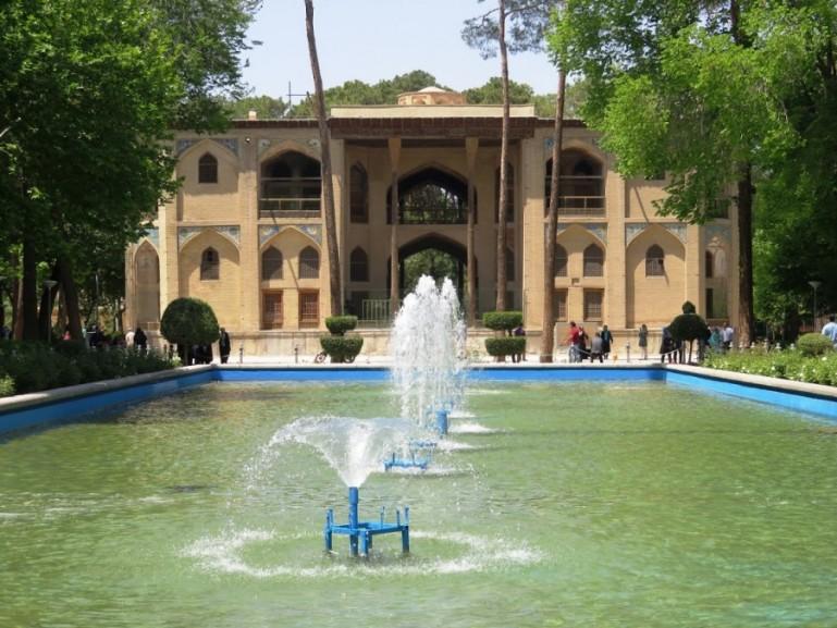 The Hasht Behesht palace in Isfahan Iran