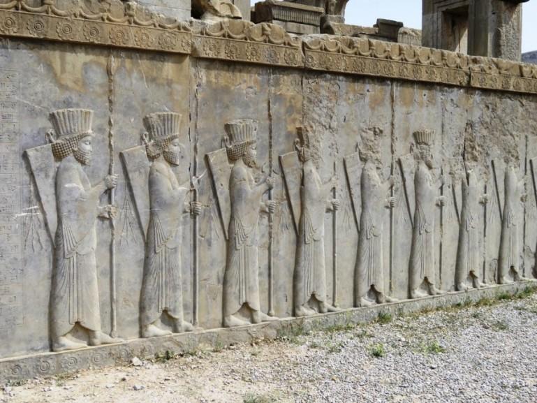 reliefs of Persian men at Persepolis