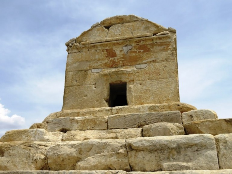 the tomb of Cyrus the great at Pasargadae near Persepolis