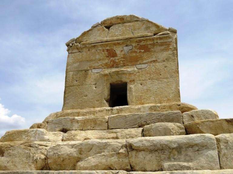 the tomb of Cyrus the great at Pasargadae near Persepolis