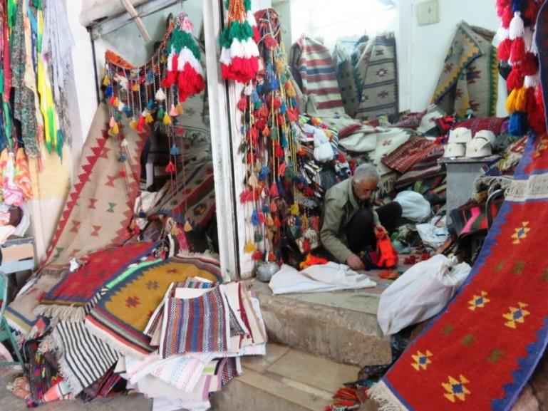 Qashqai carpets at the bazaar in Shiraz