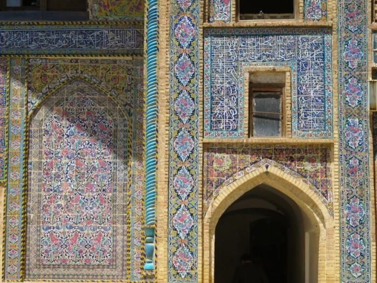 mosaic tiles st the Madraseh-ye Khan in Shiraz
