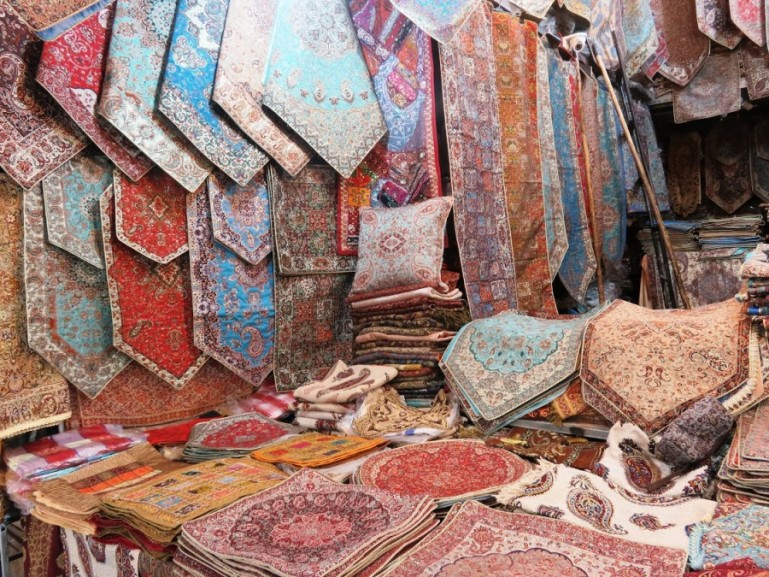 Souvenirs from  Iran at the Tehran grand bazaar