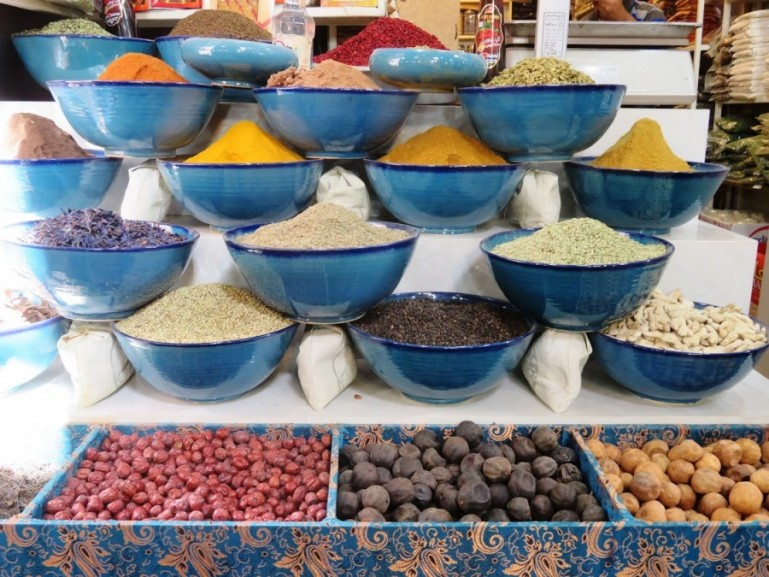 spices at the Vakil bazaar in Shiraz