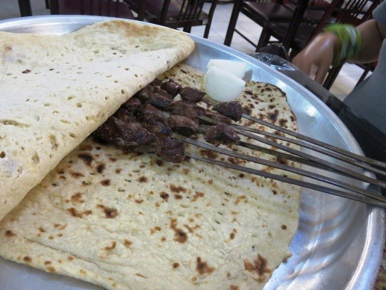 Liver kebab in Yazd