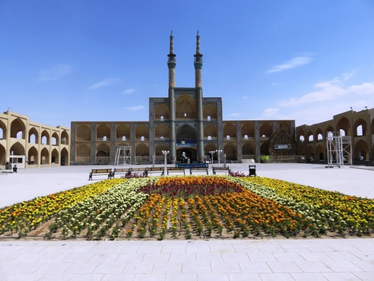 The amir chakmakh square in Yazd