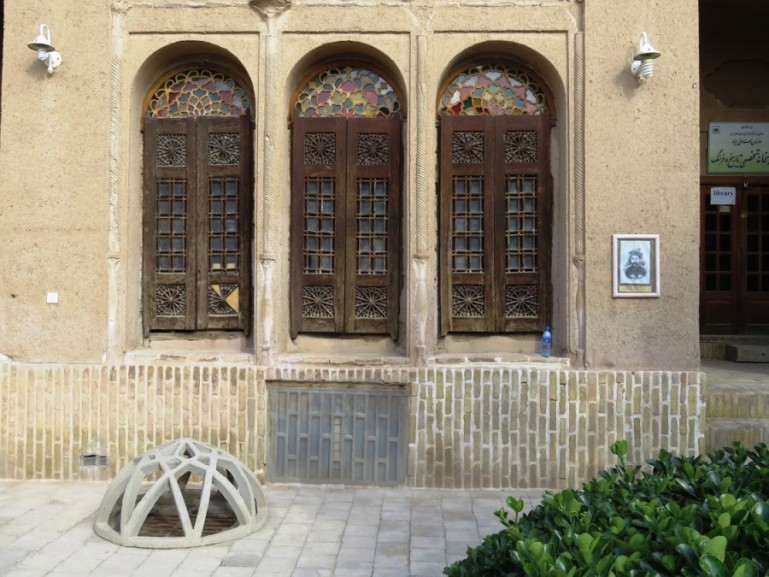 The exterior of the Khan e Lari. One of the traditional houses in the old town of Yazd