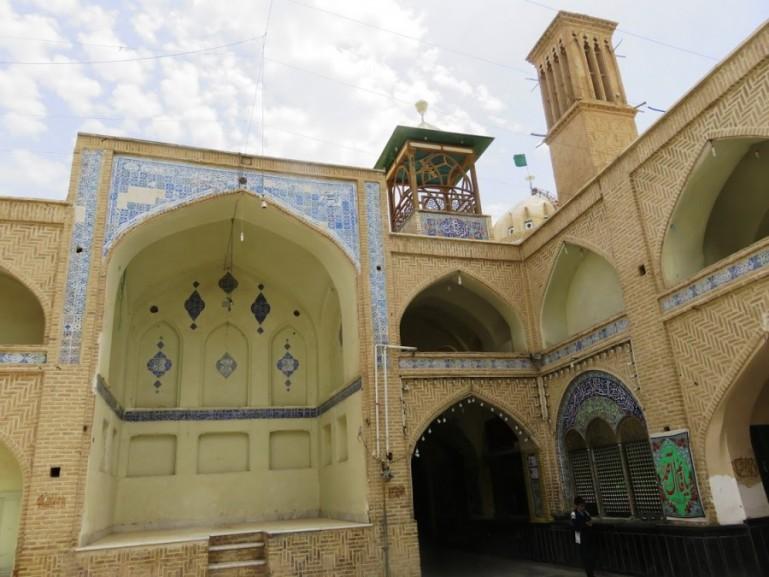 Hidden shrine at the old bazaar in Nain Iran
