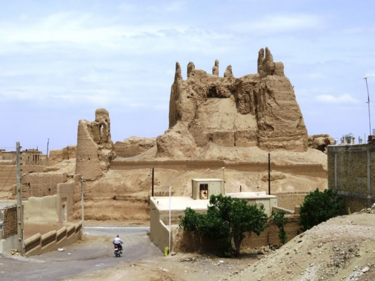 The old castle in Nain near Yazd Iran