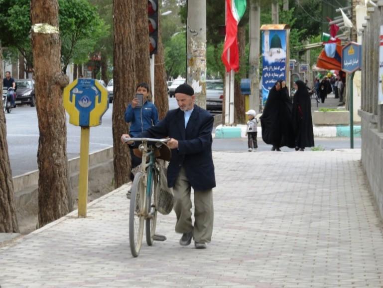 Valiasr street in Nain Iran
