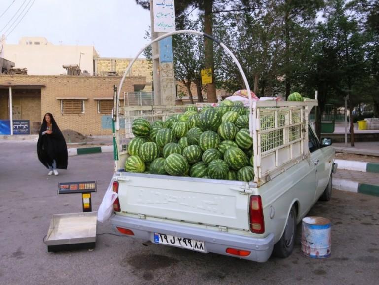 Lemons for sale at Laleh park in Nain Iran