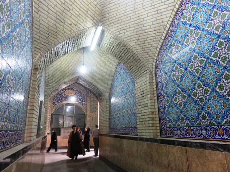 The imam mosque at the Tehran grand bazaar