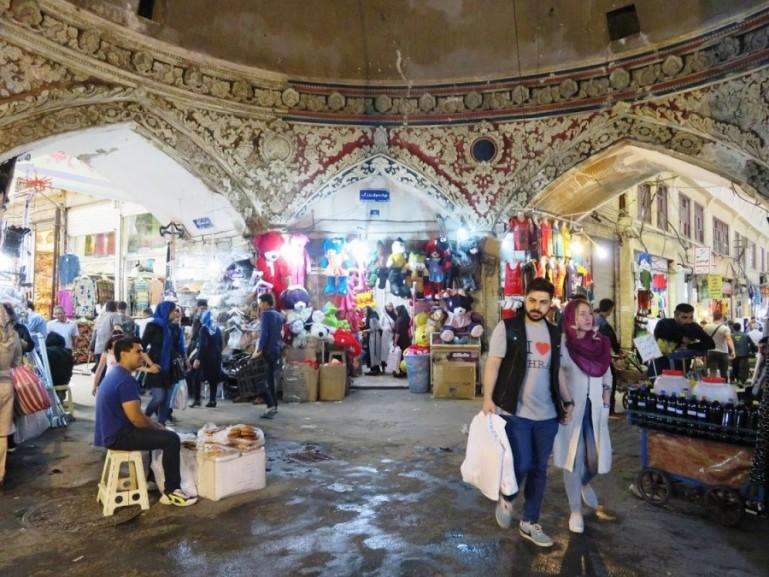 Shopping at the Tehran grand bazaar, the oldest bazaar in Iran