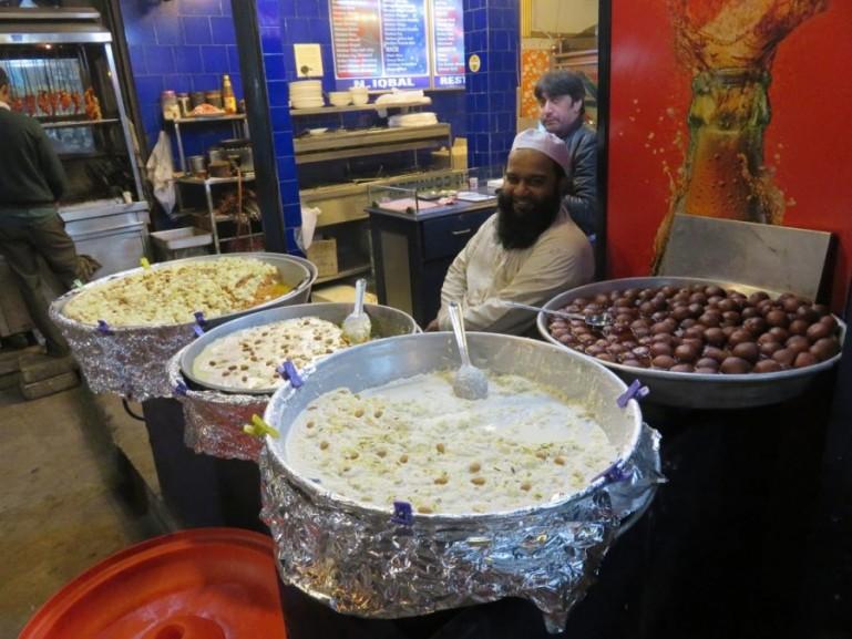 Street food at Nizamuddin Basti