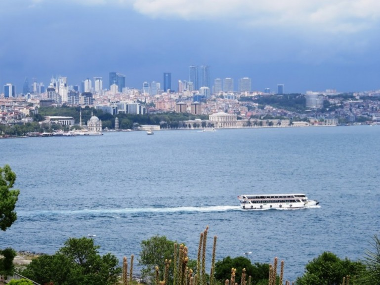 view on the Bosphorus in Istanbul