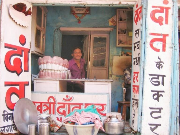 The bazaar in Varanasi