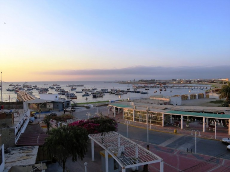 View over Paracas town