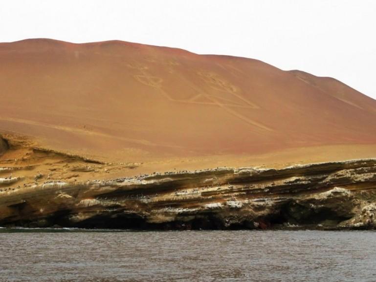 The candelabra in the desert near Paracas in Ica