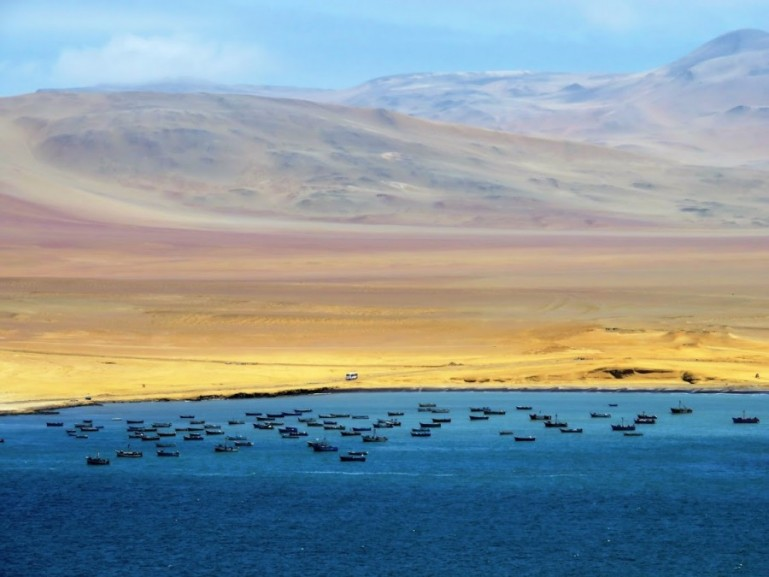 deep blue sea at the Paracas Natural Reserve, one of the most beautiful things to do in Paracas