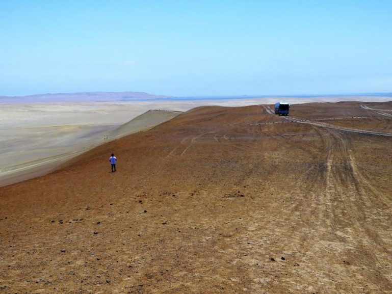 The desert in Paracas Natural Reserve