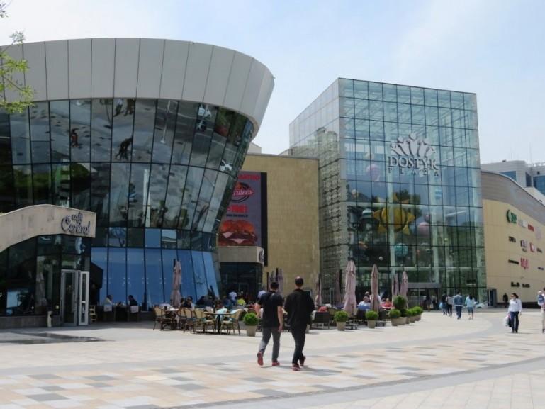 Modern shopping center in Almaty Kazakhstan