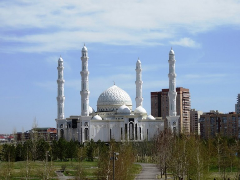 A visit inside the Hazrat Sultan Mosque is among the top things to do in Nursultan Astana