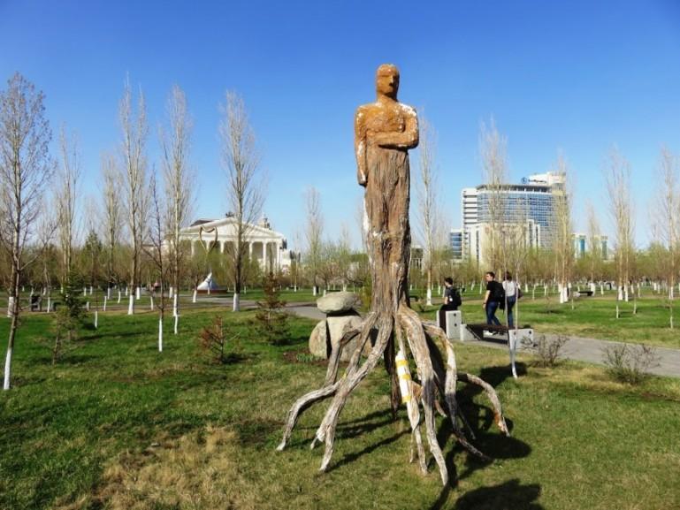 Park of lovers in Nursultan Astana