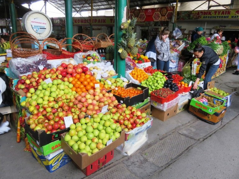 bazaar in Shymkent Kazakhstan