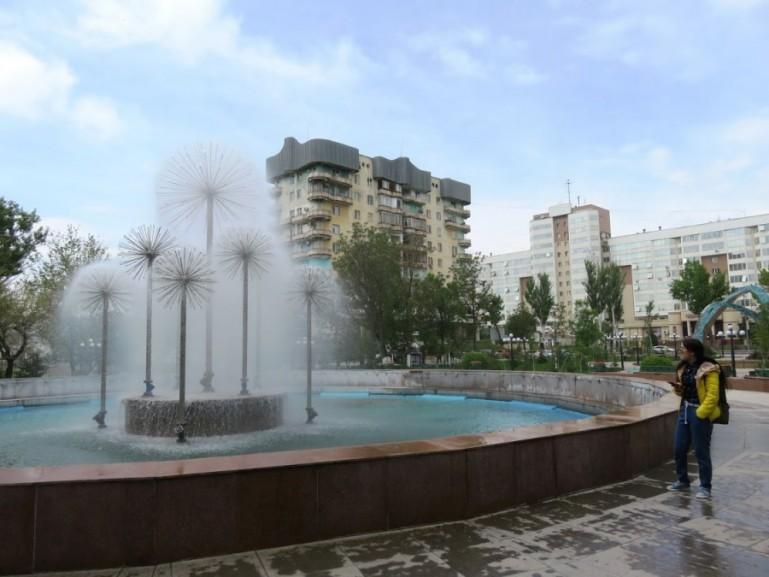Central park in Shymkent Kazakhstan
