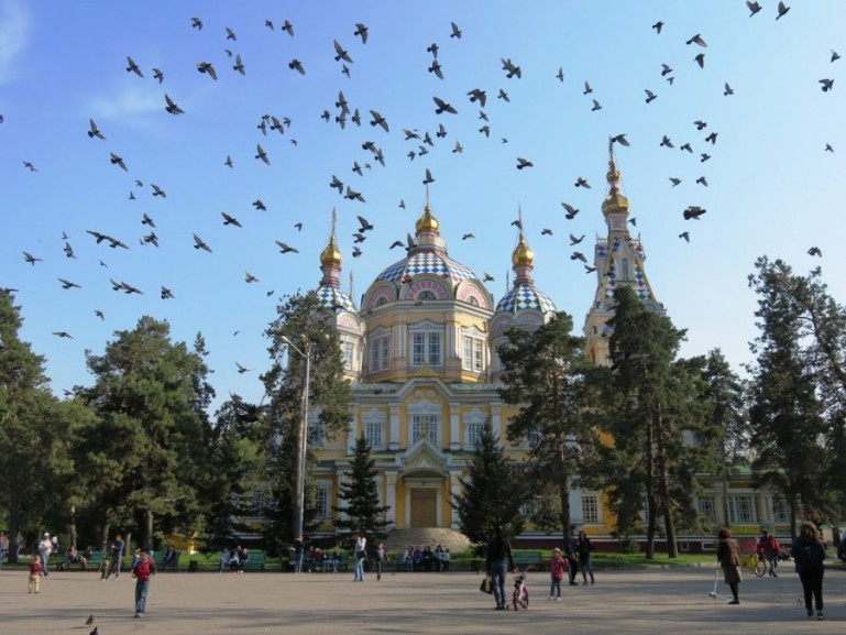 Zenkov cathedral in Almaty Kazakhstan