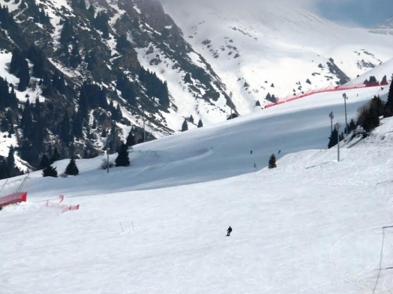 Ski resort Chymbulak in Kazakhstan