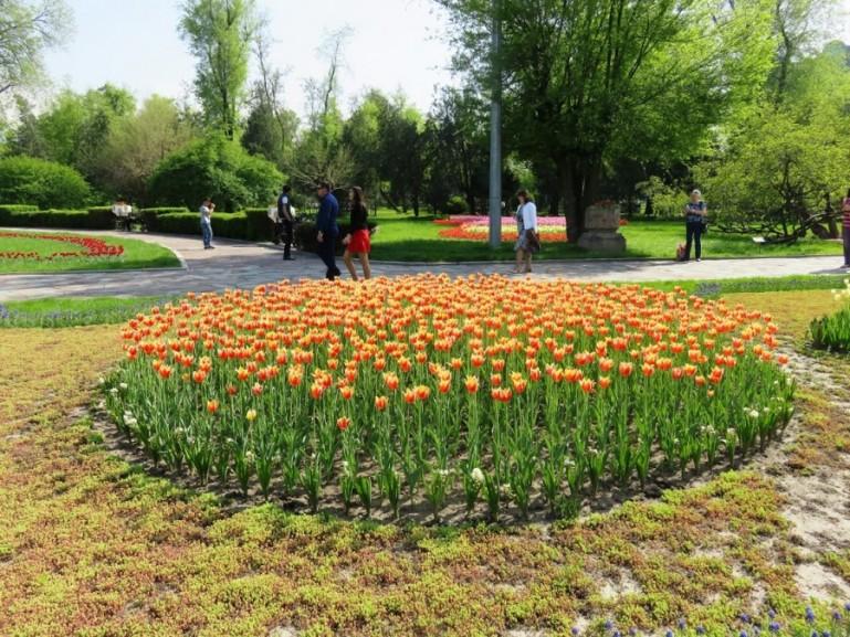 Gorki park in Almaty