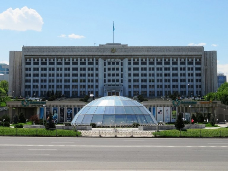 Republic square in Almaty Kazakhstan