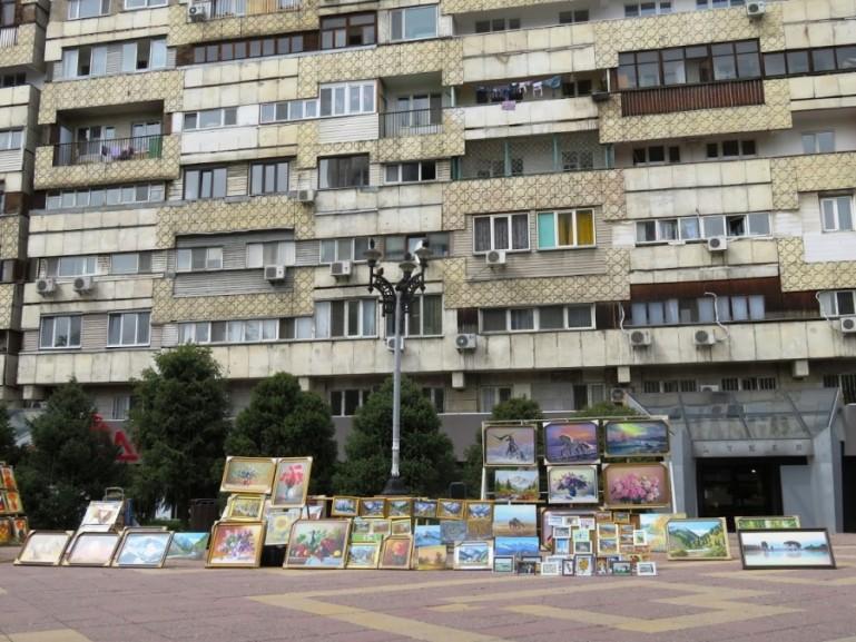 Arbat street in Almaty