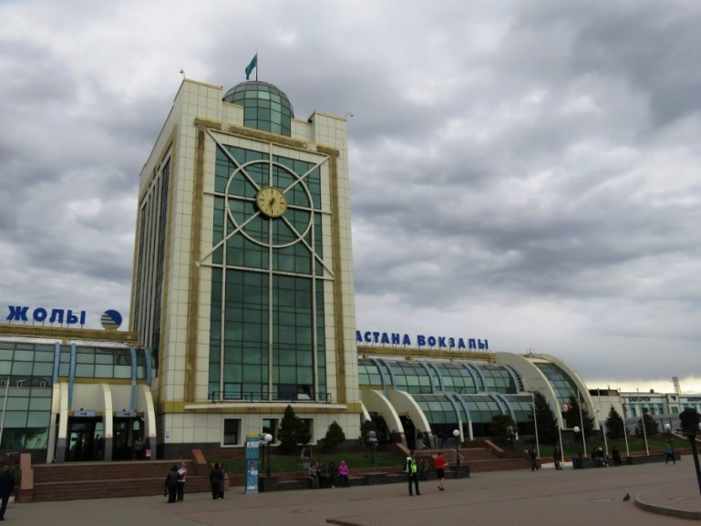 Nursultan (Astana) station in Kazakhstan