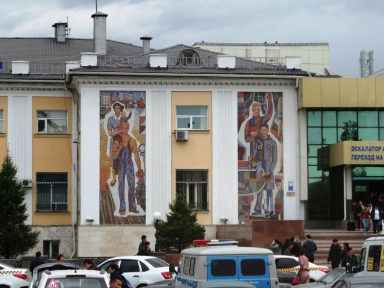Soviet mosaics in the old town of Nursultan Astana